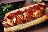 A meatball sandwich