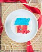 Cupcake mit Fondant-Häuschen