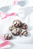 Chocolate and almond cookies