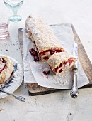 Cherry Swiss roll