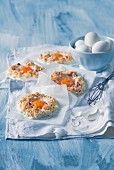 Egg yolks in egg white nests