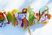 Healthy foods: vegetables decorated with flowers