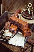 Brownies with Amarena cherries