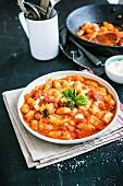 Gnocchi alla Sorrentina with mozzarella and tomatoes