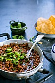 Tex mex chilli in a pan