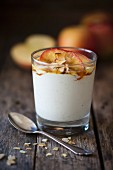 Apple and vanilla quark in a glass