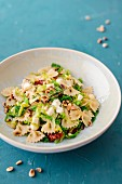 Farfalle with savoy cabbage and pine nuts