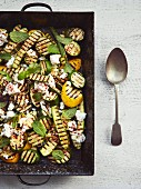 Roasted Courgette and feta