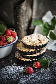 Vegan strawberry tartlets
