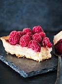Piece of raspberry tart