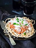 Vegan soy bolognese sauce