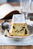 Almond cake with chocolate chips