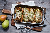 Spicy chicory roulade