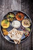 Vegetarisches Thali (Indien)