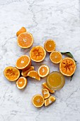 Freshly squeezed clementine juice