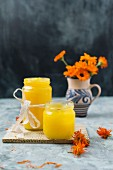 Marigold ointment in screw top jars