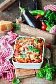 Pasta bake with eggplants