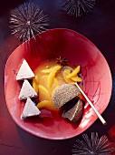 Mohnkoch auf Würzorangen (weihnachtlich)