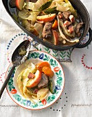 Autumnal lamb stew with apple (Italy)