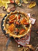Autumnal pumpkin tart
