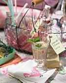 Lavender and lemon lemonade for picnic