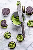 Matcha chocolate biscuits