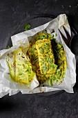 Fischfilet mit Curry und Kräutern in Pergamentpapier