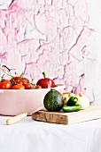 Zutaten für Pisto (Gemüseeintopf, Spanien)