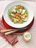 Pichelsteiner stew with chicken