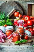 Hausgemachte Tomatensauce
