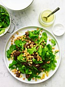 Chickpea, Rocket and Eggplant Salad