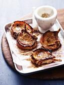 Pork Cutlets with Coriander and Fennel Salt
