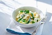Gnocchi with zucchini and basil