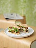 Hähnchen-Sandwich türkische Art