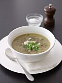 Lentil and Garlic Soup with Yogurt