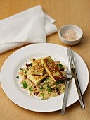 Couscous Salad with Haloumi