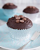 Double chocolate chip cupcake