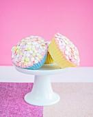 Cupcakes with sugar stars