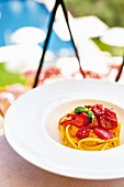 Spaghetti alla Elizabeth Taylor at the 'Hotel Splendido', Liguria, Italy