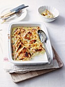 Salmon Bread and Butter Pudding
