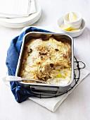 Fisch-Kartoffel-Auflauf mit Zitronen