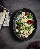 Fennel salad with beetroot and blue cheese,