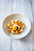 Cauliflower with sweet potato