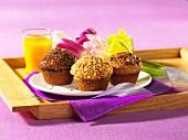 Trio of muffins