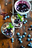 Müsli mit Joghurt und Heidelbeeren