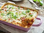Quinoa bake with tomato and mozzarella