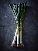 A bundle of leeks