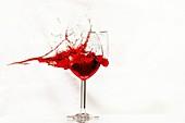 Shot wine glass, high-speed image