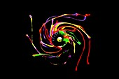 Paint spinning from centrifugal force