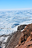 Cliffs and sea ice, Antarctica